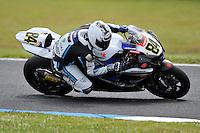 PHILLIP ISLAND, 27 FEBRUARY - Michel Fabrizio (ITA) riding the Suzuki GSX-R1000 (84) of the Team Suzuki Alstare during race one of round one of the 2011 FIM Superbike World Championship at Phillip Island, Australia. (Photo Sydney Low / syd-low.com)