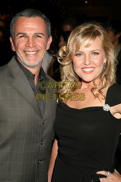 TONY PALANA & ASHLEY JENSEN.The 8th Annual Family Television Awards at the Beverly Hilton Hotel, Beverly Hills, California, USA..November 29th, 2006.half length black grey gray.CAP/ADM/BP.©Byron Purvis/AdMedia/Capital Pictures