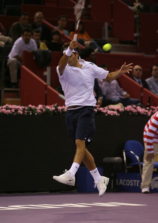 Photo. Alfaqui/Richard Lane Photography..Madrid Masters 2006. 17/10/2006..Roger Federer.