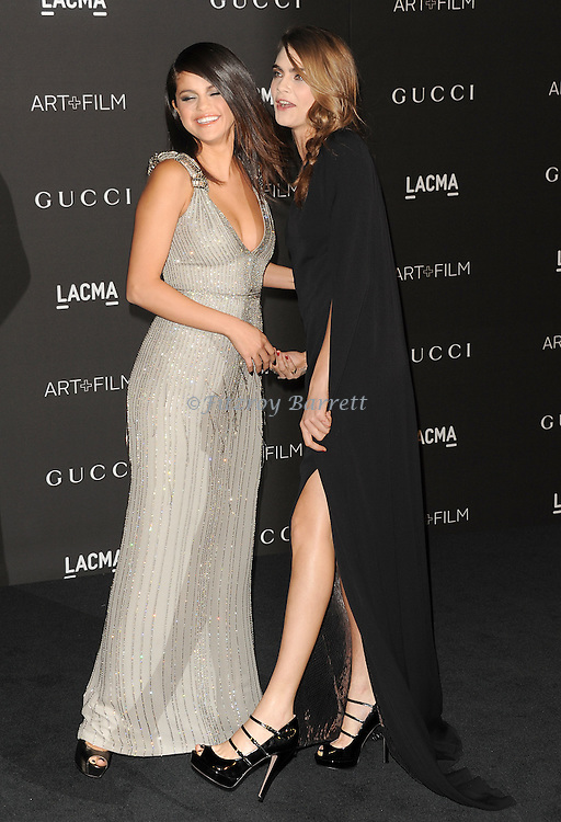 Selena Gomez and Cara Delevingne arriving at the 2014 LACMA Art And Film Gala, held at the Los Angeles County Museum of Art November 1, 2014.