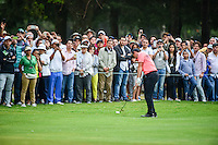 Rory McIlroy (IRL) hits his second shot on 18 during round 3 of the World Golf Championships, Mexico, Club De Golf Chapultepec, Mexico City, Mexico. 3/4/2017.<br /> Picture: Golffile | Ken Murray<br /> <br /> <br /> All photo usage must carry mandatory copyright credit (&copy; Golffile | Ken Murray)