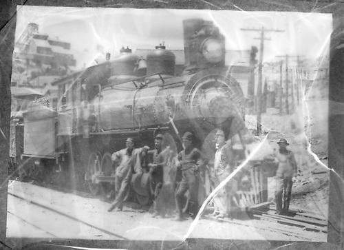 Midland Terminal #7 at Independence in 1904 dual gauge couplers.<br /> Colorado Midland    1904