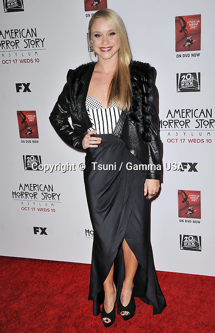 Becca Tobin  at the American Horror Story  Asylum Premiere at the Paramount Studio Theatre In Los Angeles.