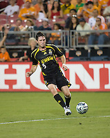 Columbus Crew midfielder Danny O'Rourke (5). The Houston Dynamo tied the Columbus Crew 1-1 in a regular season MLS match at Robertson Stadium in Houston, TX on August 25, 2007.