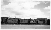 Five D&amp;RGW caboose (nos. 0503, 0589, 04343, 0586, ?) in Alamosa yard.<br /> D&amp;RGW  Alamosa, CO  Taken by Berkstresser, George - Spring 1967