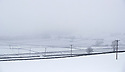 08/03/18<br /> <br /> Looking more like 'The Bleak District' rather than The Peak District, snow and mist shroud fields near Peak Forest in Derbyshire.<br /> <br /> All Rights Reserved F Stop Press Ltd. +44 (0)1335 344240 +44 (0)7765 242650  www.fstoppress.com