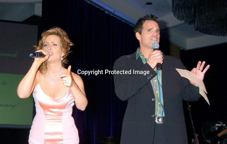 Martha Byrne and Michael Park ..at the 10th Annual Daytime Television Salutes St. Jude Children's Research Hospital Benefit on October 8, 2004 at the Marriott Marquis Hotel in New York City...Photo by Robin Platzer, Twin Images