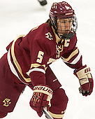 Alex Carpenter (BC - 5) - The visiting Boston College Eagles defeated the Harvard University Crimson 2-0 on Tuesday, January 19, 2016, at Bright-Landry Hockey Center in Boston, Massachusetts.
