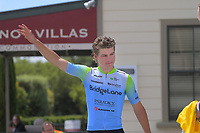 Tour leader Jensen Plowright (Australia/Team BridgeLane). Stage three of the NZ Cycle Classic UCI Oceania Tour (Martinborough circuit) in Wairarapa, New Zealand on Friday, 17 January 2020. Photo: Dave Lintott / lintottphoto.co.nz