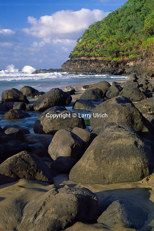 Hanakapiai Beach<br /> Na Pali Coast<br /> Island of Kauai<br /> Hawaii
