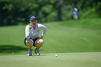 Morgan Pressel (USA) lines up her putt on 12 during round 2 of the 2018 KPMG Women's PGA Championship, Kemper Lakes Golf Club, at Kildeer, Illinois, USA. 6/29/2018.<br /> Picture: Golffile | Ken Murray<br /> <br /> All photo usage must carry mandatory copyright credit (&copy; Golffile | Ken Murray)