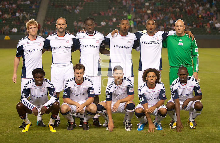 CARSON, CA – SEPTEMBER 10:  The New England Revolution starting line upat Home Depot Center, September 10, 2010 in Carson California.
