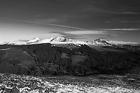 Ben Vorlich, Stuc a Chroin and Beinn Each from Beinn an t-Sidhein, Strathyre, Loch Lomond and the Trossachs National Park, Stirlingshire
