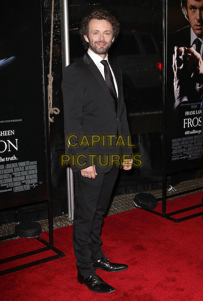 "MICHAEL SHEEN .At the premiere of ""Frost/Nixon"" held at the Ziegfeld Theater, New York, NY, USA, 17th November 2008..Frost Nixon full length black suit tie beard facial hair pinstripe .CAP/ADM/PZ.©Paul Zimmerman/Admedia/Capital Pictures"