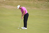 Romain Wattel (FRA) on the 5th green during Round 3 of the Dubai Duty Free Irish Open at Ballyliffin Golf Club, Donegal on Saturday 7th July 2018.<br /> Picture:  Thos Caffrey / Golffile