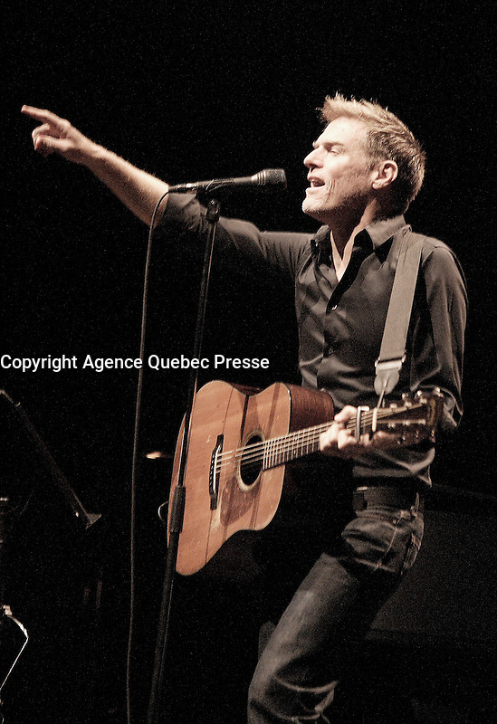 Montreal (Qc) CANADA -august 10  2009 file photo - Bryan Adams