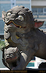 Koma-inu, Shishi, Lion-Dog and Pup, Temple Guardian, Kanteibyo Temple, Guan di Miao, Chinatown, Yokohama, Japan