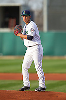Cedar Rapids Kernels pitcher Jose Berrios #44 pitches during a game against the Lansing Lugnuts at Veterans Memorial Stadium on April 29, 2013 in Cedar Rapids, Iowa. (Brace Hemmelgarn/Four Seam Images)