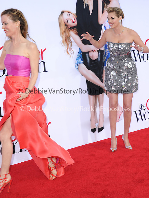 Leslie Mann and Kate Upton attends The Twentieth Century Fox L.A. Premiere of Th eOther Woman held at The Regency Village Westwood in Westwood, California on April 21,2014                                                                               © 2014 Hollywood Press Agency