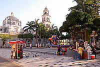 The zocalo or Plaza de Armas in the city of Veracruz, Mexico