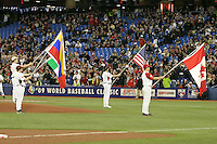 March 7, 2009:  Opening Ceremonies during the first round of the World Baseball Classic at the Rogers Centre in Toronto, Ontario, Canada.  Team USA defeated Canada 6-5 in both teams opening game of the tournament.  Photo by:  Mike Janes/Four Seam Images