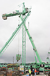 Collapsed Crane..Picture: Shane Maguire / www.newsfile.ie.