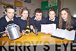 Five projects from Colaiste na Sceilge will travel to The Young Scientist Exhibition in Dublin this month pictured here l-r; Lonán Collins, Noelle Galvin, Cillian O'Donovan, Eilis Moriarty & Holly Dennehy.