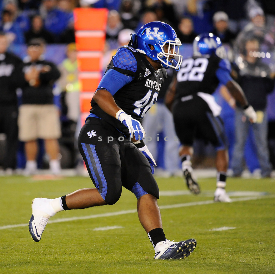 RONNIE SNEED, of the Kentucky Wildcats, in action during Kentucky's game against the Mississippi State Bulldogs on October 29, 2011 at Commonwealth Stadium in Lexington, KY..Mississippi State beat Kentucky 28-16..