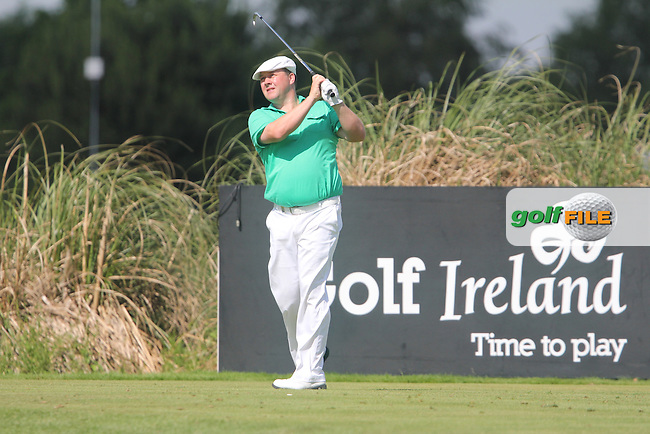 Chris Doak (SCO) on the 11th tee during Round 4 of the Irish Open at Fota Island on Sunday 22nd June 2014.<br /> Picture:  TJ Caffrey / www.golffile.ie