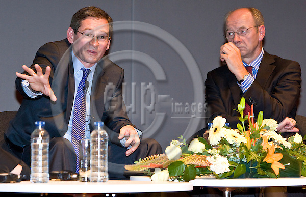 BRUSSELS  -  BELGIUM  - 16 JUNE 2011 -- European Policy Centre (EPC) Annual Conference. - ?Hard talk? interview on the Polish Presidency of the EU. -- Adam JASSER, Undersecretary of State in the Polish Prime Minister's Office  and Josef JANNING, Director of Studies at EPC.  -- PHOTO: Juha ROININEN /  EUP-IMAGES