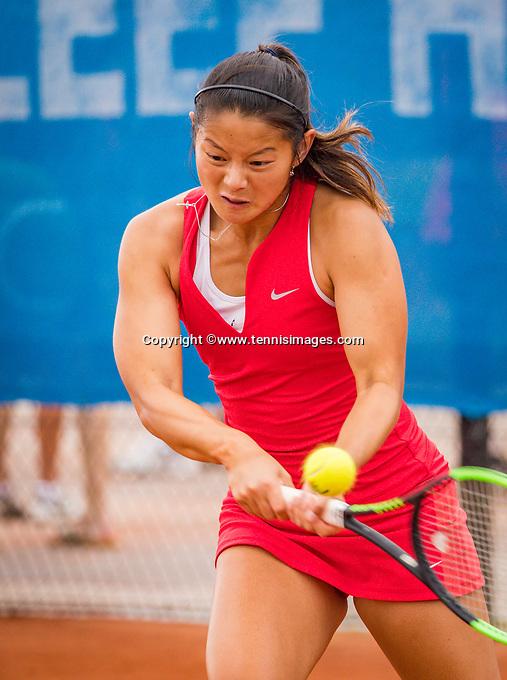 Amstelveen, Netherlands, 1 August 2020, NTC, National Tennis Center, National Tennis Championships, Women's double final:  Arianne Hartono (NED).<br /> Photo: Henk Koster/tennisimages.com