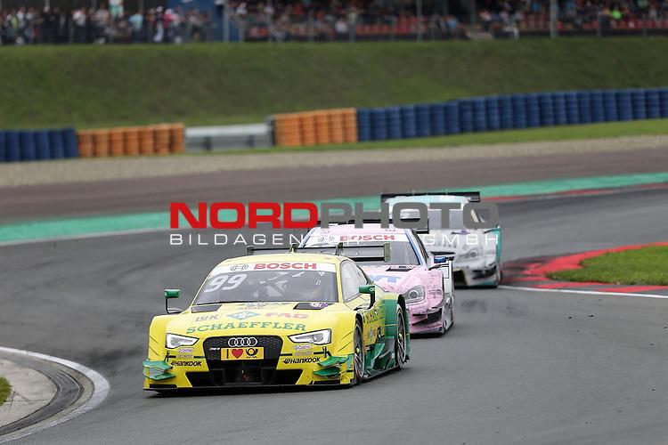 DTM 2015, 07.Lauf Oschersleben, 11.09. - 13.09.15 <br /> Mike Rockenfeller (DEU#99) Audi Sport Team Phoenix Audi RS 5 DTM ,Lucas Auer (AUT#22) Euronics/BWT Mercedes-AMG C-Coup&eacute;<br /> <br /> <br /> <br /> <br /> <br /> Foto &copy; nordphoto /  Bratic