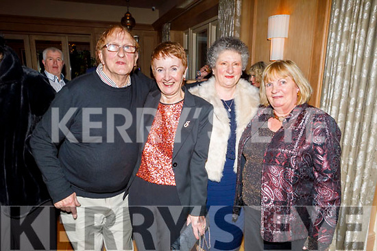 Paddy and Joan O'Connor (Scartaglin), Jacinta Walsh (Tralee) and Bernie Broderick (Duagh) enjoying  the Kerry Supporters Social in the Ballygarry House Hotel on Saturday.