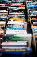 Hay on Wye, UK. Wednesday 01 June 2016<br /> Pictured: Details of books at the second hand book shop in the hay festival  <br /> Re: The 2016 Hay festival take place at Hay on Wye, Powys, Wales