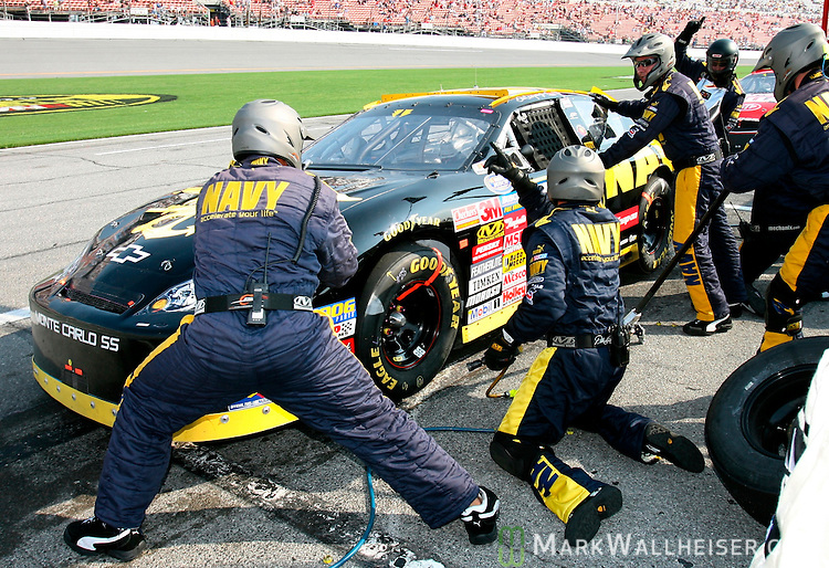 Dale Earnhardt Jr Makes A Pit Stop In The Winn Dixie 250 NASCAR