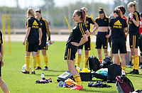 20180303 - LARNACA , CYPRUS :  Belgian Tessa Wullaert pictured during a Matchday -2 training from The Belgian Red Flames prior to their game against Austria , on Saturday 3 March 2018 at the Alpha Sports Grounds in Larnaca , Cyprus . This will be the third game in group B for Belgium during the Cyprus Womens Cup , a prestigious women soccer tournament as a preparation on the World Cup 2019 qualification duels. PHOTO SPORTPIX.BE | DAVID CATRY