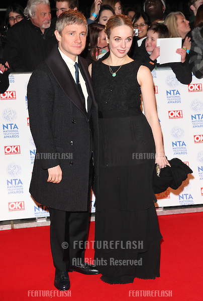 Martin Freemand and wife arriving for the National Television Awards 2013, at the O2 Arena, London. 23/01/2013 Picture by: Alexandra Glen / Featureflash