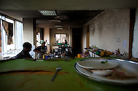 Cooks work in the kitchen of the Obama Cafe during lunch time In Amhara's regional capital Bahir Dar on President Barack Obama's inauguration day, Tuesday January 20 2009..