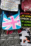 London souvenir shoulder bags outside a tourist shop