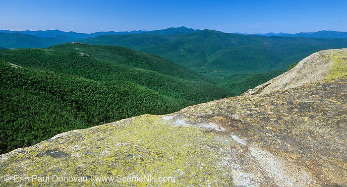 Scenic view from Stairs Mountain in the Dry River Wilderness in the White Mountains of New Hampshire.
