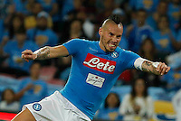 Marek Hamsik <br />  during the  italian serie a soccer match,between SSC Napoli and AC Chievo       at  the San  Paolo   stadium in Naples  Italy , September 25, 2016