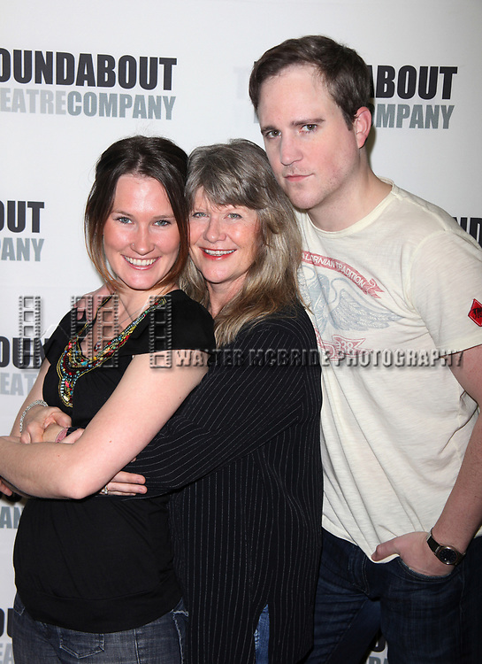 Keira Keeley, Judith Ivey &amp; Patch Darragh attending the Meet &amp; Greet for the Roundabout Theatre Company's production of THE GLASS MENAGERIE in New York City.<br />