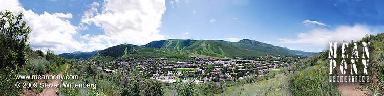 Park City, Utah panorama; Lost Prospector Trail, Wasatch Mountains