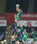 Connacht flanker John Muldoon takes the line out ball.<br /> Guiness Pro12<br /> Ospreys v Connacht<br /> Liberty Stadium<br /> 31.10.14<br /> &copy;Steve Pope-SPORTINGWALES