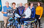 Donal Griffin, Elizabeth Ryle O'Connor, Tim McAuliffe, Maura Sullivan (Treasurer of Kerry Hospice), Aileen and Deirdre Griffin attending the Honda 50 run at the Anvil Bar for the Palliative Care Unit on Sunday,