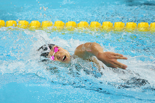 Misaki Yamaguchi (JPN), <br /> SEPTEMBER 21, 2014 - Swimming : <br /> Women's 4x100m Freestyle Relay Heat <br /> at Munhak Park Tae-hwan Aquatics Center <br /> during the 2014 Incheon Asian Games in Incheon, South Korea. <br /> (Photo by YUTAKA/AFLO SPORT) [1040]