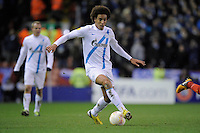 21.02.2013 Liverpool, England.  Axel Witsel  of Zenit St Petersburg in action during the Europa League game between Liverpool and Zenit St Petersburg from Anfield. Liverpool won 3-1 on the night but went out of the competition on away goals.