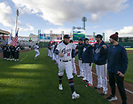 A photograph taken during the 2019 opening day game between the Reno Aces and the Albuquerque Isotopes at Greater Nevada Field in Reno, Nevada on Tuesday, April 9, 2019.