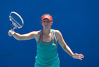 ANASTASIA PAVLYUCHENKOVA (RUS) against KLARA ZAKOPALOVA (CZE) in the first round of the women's Singles. Anastasia Pavlyuchenkova beat Klara Zakopalova  7-6 6-1 ..17/01/2012, 17th January 2012, 17.01.2012..The Australian Open, Melbourne Park, Melbourne,Victoria, Australia.@AMN IMAGES, Frey, Advantage Media Network, 30, Cleveland Street, London, W1T 4JD .Tel - +44 208 947 0100..email - mfrey@advantagemedianet.com..www.amnimages.photoshelter.com.