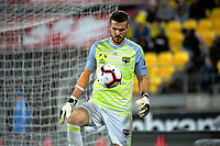 Phoenix keeper Filip Kurto during the A-League football match between Wellington Phoenix and Melbourne City FC at Westpac Stadium in Wellington, New Zealand on Sunday, 21 April 2019. Photo: Dave Lintott / lintottphoto.co.nz